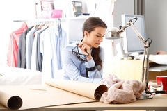 Modern young fashion designer Royalty Free Stock Images