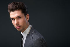 Modern young man cool hairstyle Stock Image