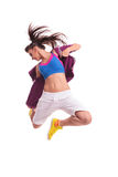 Modern young woman dancer jumping Stock Photo