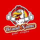 Modern Yummy Fried Chicken Emblem Logo Template stock illustration