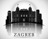 Modern Zagreb City Skyline Design. Republic of Croatia Royalty Free Stock Images
