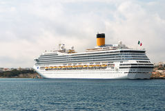 Modern zeevaartpassagiersschip Royalty-vrije Stock Foto