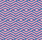 Modern zigzag bright geometric seamless pattern. Rhombus graphic Royalty Free Stock Photography
