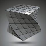 Modern zink kvadrerade stilfull 3d konstruktion, dimensionellt M royaltyfri illustrationer