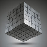 Modern zink kvadrerade stilfull 3d konstruktion, dimensionellt M stock illustrationer