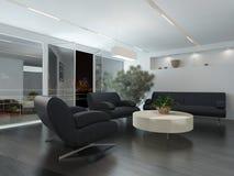 Modern zitkamer of wachtkamerbinnenland stock illustratie