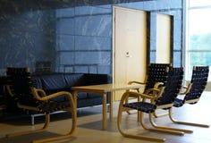 Modern zitkamerbinnenland Stock Foto's