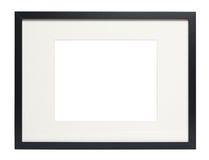 Modern Zwart fotoframe (met het knippen van weg) Royalty-vrije Stock Foto's