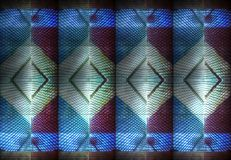 Moderna abstrakta arkitekturdesigner för blåa reflexioner arkivbild