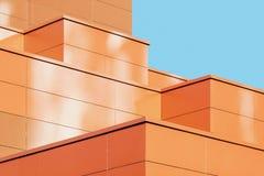 Moderna abstrakta byggande fasadformdetaljer arkivbild