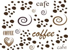 Moderna affischer med kaffe background2 royaltyfria bilder