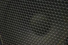 Moderna akustiska system Metallgaller på den solida dynamiken Royaltyfri Foto