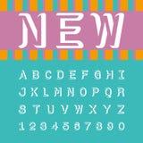 Moderna alfabet- och nummerteckensymboler, typografisk vektor vektor illustrationer