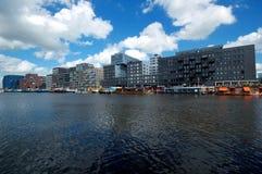 moderna amsterdam byggnader Royaltyfria Bilder