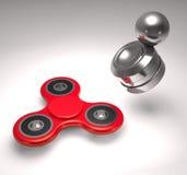 Moderna anti--spänning leksaker orbiter och illustration för spinnare 3d Arkivbilder