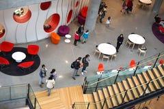 Moderna arkitektur- och läsningutrymmen Fotografering för Bildbyråer