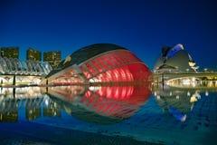 Moderna arkitekturbyggnader av staden av konster och vetenskaper arkivfoto