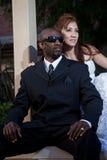 Moderna attraktiva mång- ras- par Royaltyfria Bilder