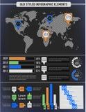 Moderna beståndsdelar av informationsdiagram Royaltyfri Foto