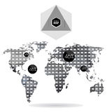 Moderna beståndsdelar av informationsdiagram Arkivbild