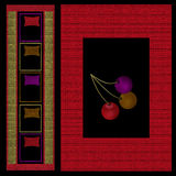 Moderna beståndsdelar för orientalisk modell med körsbärsröd bakgrund Arkivfoton
