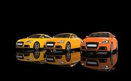 Moderna bilar - värme färger Arkivfoto