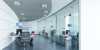 Moderna blått för företags kontor royaltyfri illustrationer