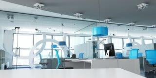 Moderna blått för företags kontor vektor illustrationer