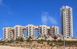 Moderna bostads- byggnader i Jerusalem, Israel Arkivfoton