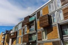Moderna bostads- kvarter i Southwark, London Fotografering för Bildbyråer
