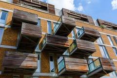 Moderna bostads- kvarter i Southwark, London Arkivbild