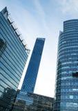 Moderna byggnad och torn Fotografering för Bildbyråer