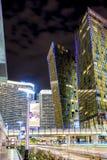 Moderna byggnader för Las Vegas mitt Hög poängskott Suddiga Moti Royaltyfria Bilder