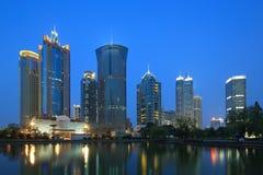 Moderna byggnader för Shanghai pudong lujiazui Arkivfoto