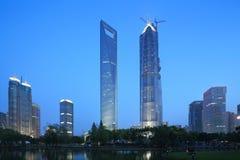 Moderna byggnader för Shanghai pudong lujiazui Arkivbild