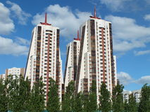 Moderna byggnader i Astana/Kasakhstan Arkivbilder
