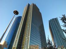 Moderna byggnader i Astana/Kasakhstan Arkivbild
