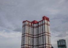 Moderna byggnader i Bangkok, Thailand fotografering för bildbyråer