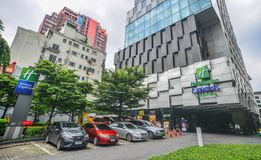 Moderna byggnader i Bangkok, Thailand arkivfoto