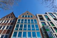 Moderna byggnader i Bremen, Tyskland Royaltyfria Foton