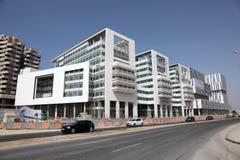 Moderna byggnader i Casablanca Arkivfoton