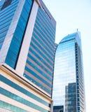 Moderna byggnader i den nya Montevideo, Uruguay Royaltyfri Fotografi