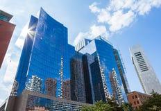 Moderna byggnader i det finansiella området av Boston - USA Royaltyfria Bilder