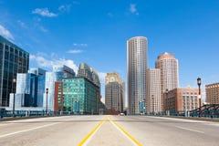 Moderna byggnader i det finansiella området i Boston - USA Arkivfoto