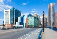 Moderna byggnader i det finansiella området i Boston - USA Arkivbilder