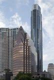 Moderna byggnader i i stadens centrum Austin Arkivbilder