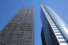 Moderna byggnader i Lower Manhattan Arkivfoto