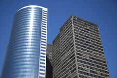 Moderna byggnader i Lower Manhattan Arkivbilder