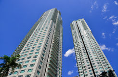 Moderna byggnader i Manila, Filippinerna Arkivfoto