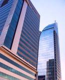 Moderna byggnader i ny Montevideo Royaltyfria Foton